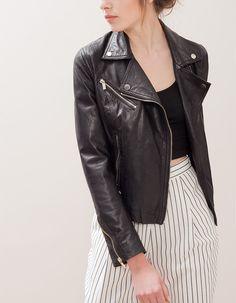 Δερμάτινο biker jacket