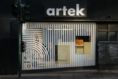 Artek is one of our favorites when it comes to bent plywood and design. I recently came across a design project by Tsto Creative from Helsinki, Finland Shop Signage, Glass Signage, Window Signage, Retail Signage, Signage Design, Facade Design, Storefront Signage, Retail Branding, Window Display Design
