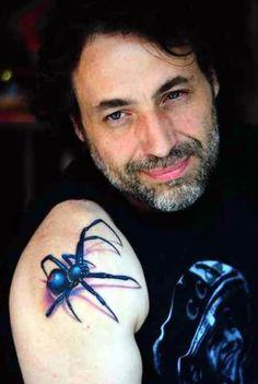 Simple Spider Tattoo Design For Men On Sleeve, spider man tattoo, spider tattoo meaning Black Widow Spider Tattoo, 3d Spider Tattoo, Tatoo 3d, Moth Tattoo, Arm Tattoo, Tattoo Art, Black Spider, Tattoo Shop, 3d Tattoos For Men
