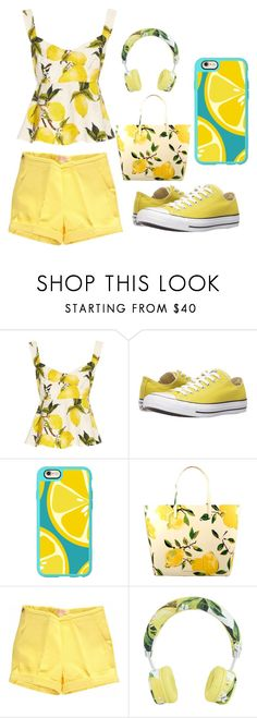 """LEMON"" by galacticfashion-13 ❤ liked on Polyvore featuring Dolce&Gabbana, Converse, Casetify and Kate Spade"