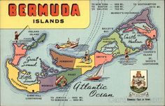 Map of Bermuda Islands