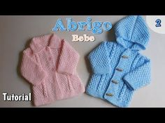 Ajuar: abriguito de bebe varón a dos agujas, palitos (2/2) - YouTube Baby Knitting Patterns, Knitting For Kids, Crochet Patterns, Knitting Videos, Knitting Projects, Crochet Clothes, Kids And Parenting, Knitted Hats, Knit Crochet