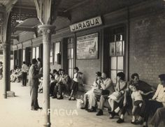 Estação Jaraguá. Foto provavelmente de 1948.
