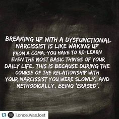 Recovering from a relationship with a Narcissist