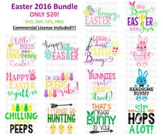 Easter Designs Bundle, Easter SVG, DXF, EPS, png Files for Cutting Machines Cameo or Cricut - Bunny svg, Easter boy svg