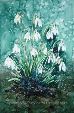 ARTFINDER: Harbingers of Spring by Zaira Dzhaubaeva - Original Watercolor Painting on Paper.