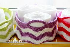 Crochet Pattern - Ripple Basket (Pattern No. 056) - INSTANT DIGITAL DOWNLOAD
