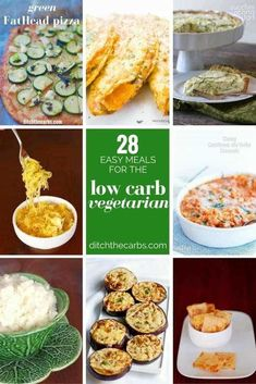 Perfect low carb vegetarian meals Low carb can be so difficult for vegetarians but these recipes change everything via ditchthecarbs Vegetarian Side Dishes, Low Carb Vegetarian Recipes, Vegan Dinner Recipes, Low Carb Recipes, Vegan Meals, Pescatarian Recipes, Vegetarian Food, Keto Dinner, Vegetarian Italian