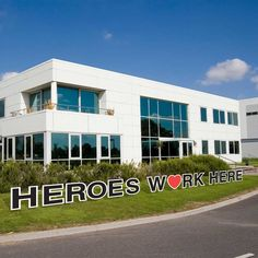 Heroes Work Here Yard Letters Custom Yard Signs, Corrugated Plastic, Health Care, Porch, Multi Story Building, Hero, Letters, Free Shipping, Mansions