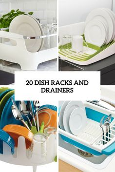 Many apartment dwellers and homeowners need to cope with small kitchens, or at least kitchens with limited counter space. A big countertop dish drainer isn't #dishracks #drainers