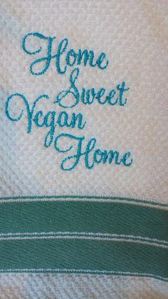 Vegan Kitchen Towels - Handmade Vegan Themed Towels (Assorted)