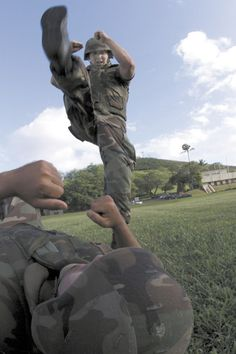 stomp military combat training instructions kick fight beat up