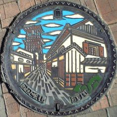 Kawagoe City manhole cover.