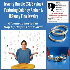 Day by Day in Our World is providing a Jewelry Bundle ($178) open to US for the Spring Fashionista Event March 12-20,  85 blogs ! In addition, there will be $26,000 dollars+ in prizes from all the blogs! Join us for the Fall Fashionista Event (March 12-20)