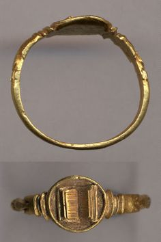 A gold 13th century ring Europe.