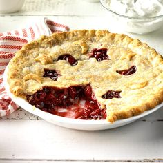 Cranberry-Cherry Nut Pie Recipe -This delightful, stress-free pie combines cranberries with convenient cherry pie filling for a fresh, fun flavor. —Taste of Home Test Kitchen Nut Pie Recipe, Keylime Pie Recipe, Pie Recipes, Dessert Recipes, Pie Dessert, Pastry Recipes, Recipies, Cranberry Pie, Cranberry Recipes