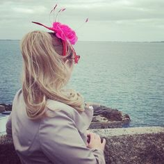 Pink fascinator, Irish sea Mountains to Sea book festival, Dun Laoghaire, March 2015 (photo by Philip Reeve)http://philipreeve.blogspot.co.uk/2015/03/mountains-to-sea-2015.html