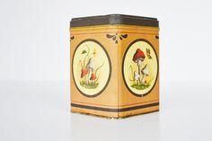 Vintage Tin Mushroom Tin by JudysJunktion on Etsy, $12.00