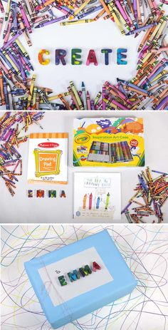cute gift idea for kids to encourage creativity!
