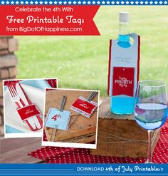 July 4th Party Ideas - Free Printables from BigDotOfHappiness.com |  #Chevron #July4th #EverydayPartyIdeas