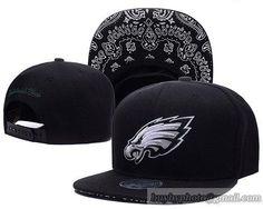 Philadelphia Eagles Black Snapback Hats Brim Paisley Pattern cheap for sale 1c6dbe23c