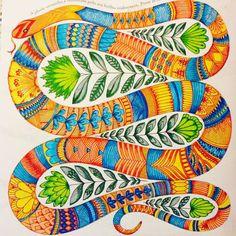 Snake Millie Marotta - tropical Wonderland #milliemarotta #colouringbook #tropicalwonderland
