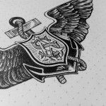 Beautiful Hand Drawn Salvation Army Crest by Drew Melton. #logo #crest #design #sketch