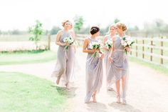 This breathtakingly pretty wedding will have your heart all aflutter with its gorgeous colour scheme of blush pink and soft grey! Newlyweds Sam & Jennifer had a beautiful church ceremony followed by a romantic wedding breakfast at Dodford Manor. Jennifer wowed with her elegant princess style wedding dress and effortless style and the bridesmaid dresses are pretty special too! Image by @sanshinephoto // dresses via @asos