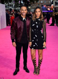 Stylish duo:Marvin and Rochelle Humes didn't disappoint as they attended the world premiere of Bridget Jones' Baby in London on Monday