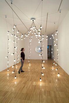 PAM - tenteffect met lampen - Jeppe Hein - Light Pavilion