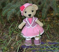 Бесплатный мастер-класс по вязанию медведицы Настеньки крючком от Марии Парушкиной. Рост вязаного медведя примерно 27 см без учета ушек (крючок №2). И…