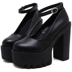 Platform Heeled Sandals (115 BRL) ❤ liked on Polyvore featuring shoes, sandals, heels, platform shoes, platform heel sandals, heeled sandals, platform sandals and heel platform shoes