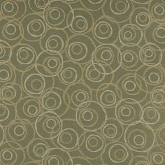 C584 Green Gold White Overlapping Circles Durable Upholstery ...