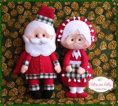 Enfeite de Natal em Feltro Mamãe Noel