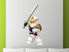 Handmade Reusable Removable Wall Decal Ninjago by CanvasStickers, $27.99