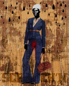"""Ain't I a Woman"" blue by Ofunne Obiamiwe - Artist, activist and educator www.ofunne.com"
