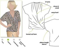 Ginger Top - Sizes 16, 18, 20 - Women's Top PDF Sewing Pattern by Style Arc - Sewing Project - Digital Pattern