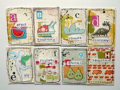cute altered alphabet cards