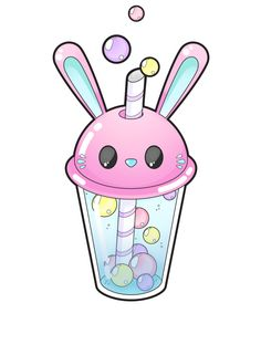 Bunny bubble tea [Commissions open] by Meloxi.deviantart.com on @DeviantArt