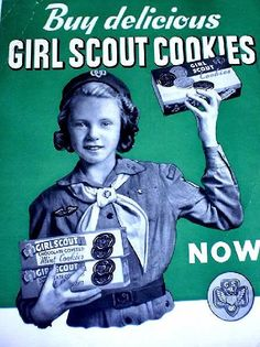 1960s girl scouts - 50 cents a box and my mom was cookie mother