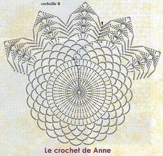 grille de napperon carré avec une couronne de fleurs de lys