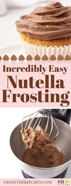 This Nutella Frosting recipe will soon become your favourite frosting for layer cakes and cupcakes. It's rich, creamy, and made with THE delicious hazelnut chocolate spread. #nutellafrosting #nutella #nutellaicing #chocolatenutella Chocolate Spread, Chocolate Hazelnut, Chocolate Flavors, Sweet Recipes, Real Food Recipes, Dessert Recipes, Yummy Recipes, Nutella Frosting, Fairy Bread