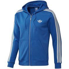 Chaqueta Adidas Original Azul/Blanco