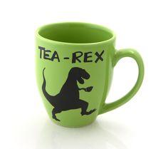 tea-rex mug, t rex, dinosaur mug, gift for tea lover, large 16 oz by LennyMud on Etsy https://www.etsy.com/listing/172173944/tea-rex-mug-t-rex-dinosaur-mug-gift-for
