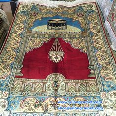 Our customers asked for pray carpet , this is our handmade silk pray carpet, same design,same size, we have five different nice colors. more pictures,please contact me .  alice@yilongcarpet.com  whatsapp & viber: +86 15638927921