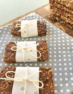 """Grain free baked """"granola"""" nut bars.  Gluten, wheat, dairy and refined sugar free."""