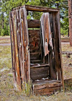 Old Outhouse By Larry Zimmer Photography Outhouse Bathroom, Old School House, Bedroom Decor For Couples, Unusual Homes, Interior Garden, Old Buildings, Outdoor Photography, Old Houses, The Great Outdoors