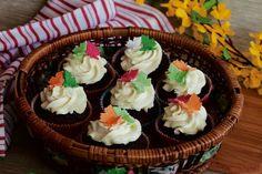 Čokoládové cupcakes s limetkovým krémom