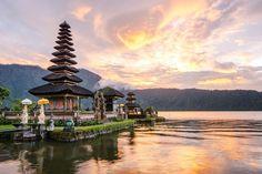 Pura Ulun Danu Bratan, Hindu temple on Bratan lake, Bali, Indonesia- the perfect destination to renew your vows