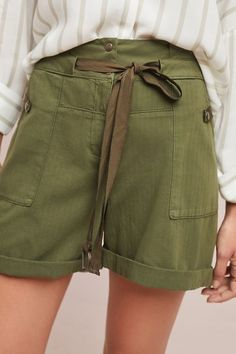 Slide View: 1: Utility High-Waisted Shorts